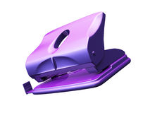 Hole puncher 3d model. Hole puncher isolated 3d model Stock Images