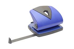 Hole puncher over white Royalty Free Stock Photos