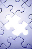 Hole in puzzle Royalty Free Stock Images