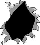 hole ripped vector Στοκ εικόνα με δικαίωμα ελεύθερης χρήσης