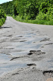 A hole in the road. Royalty Free Stock Photography
