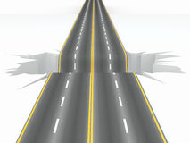 Hole on the road. Concept image Stock Images