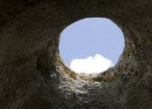 Hole in rock Royalty Free Stock Image