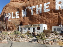 Hole in the Rock house. Souvenir shop and museum.  South of Moab, UT Stock Image