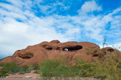Hole-in-the-rock at Papago Park Phoenix Arizona Stock Images