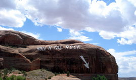 Hole in the rock, Utah Royalty Free Stock Images