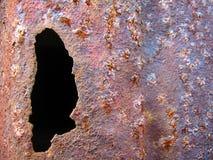 Hole in Rusty Metal Stock Photo