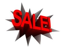 Hole with sale text. discount advertisement Stock Photo