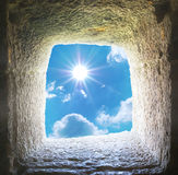 Hole and sky Stock Photography