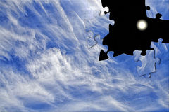 Puzzle of clouds and stars Royalty Free Stock Photography