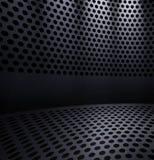 Hole stansade belägger med metall wallpaperen Arkivbilder