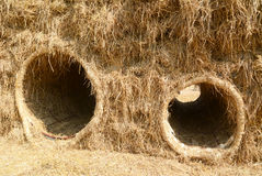 Hole in straw Royalty Free Stock Image