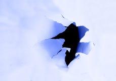 hole torn Στοκ εικόνα με δικαίωμα ελεύθερης χρήσης