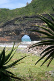 Hole in the Wall. Hole in the cliff wall that leads to the Indian Ocean, Taken at Transkei, Wild Coast, South Africa Stock Images