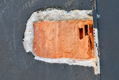 Hole in the wall Royalty Free Stock Photography