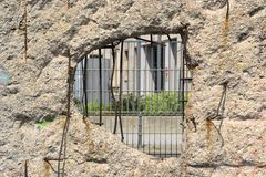 A hole in the wall Royalty Free Stock Photography