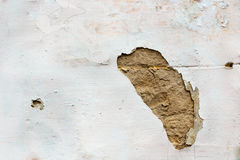 Hole in wall plaster Stock Photography