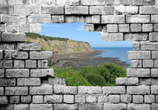 Hole in wall Stock Photography
