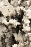 Hole in white erosioned rock Royalty Free Stock Images