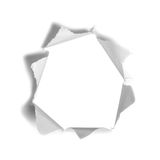Hole in the white paper Royalty Free Stock Photos