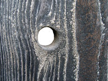 Hole in wood royalty free stock images