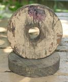 Hole. Wood wooden paint faded why who mystery place worn old see thought stain stained time carve wheel wonder art find discover discovery royalty free stock images