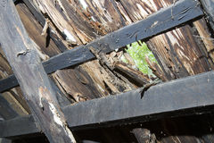 Hole in wooden roof Royalty Free Stock Photos