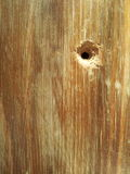 Hole wooden table background Royalty Free Stock Photos