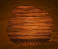 Hole in Wooden Wall Royalty Free Stock Images