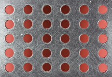Holed metal sheet Royalty Free Stock Image