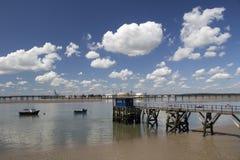 Holehaven小河, Canvey海岛,艾塞克斯,英国 免版税库存图片