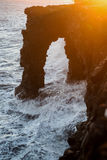 Holei Sea Arch at Sunset Royalty Free Stock Image