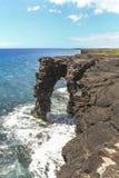 Holei-Seebogen auf der Küste des Nationalparks des Vulkans lizenzfreies stockfoto
