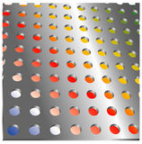 Holemetal plate Royalty Free Stock Photography
