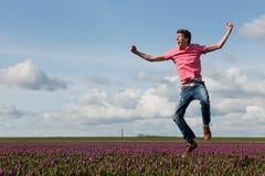 holender odpowiada szczęśliwego tulipanu obraz stock