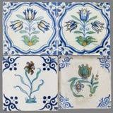 Holender płytka od 16th xviii wiek obrazy royalty free