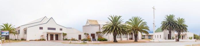 Holender Reformował kościół, sala i historycznego małego kościół w Langeba, Zdjęcie Stock
