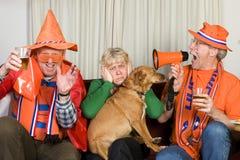 holender wachluje piłkę nożną zdjęcie stock