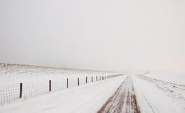 holendera śnieżny krajobrazowy mglisty Fotografia Royalty Free