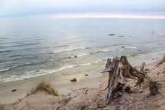 Holendera ` s nakrętki plaży piasek i lato wieczór morze Fotografia Royalty Free