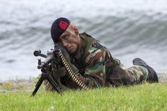 holenderscy żołnierz piechoty morskiej Obraz Stock