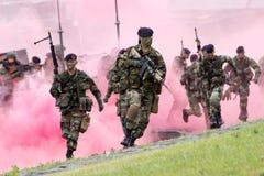 Holenderscy żołnierze piechoty morskiej Obrazy Stock