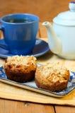 Holenderscy jabłczanego kulebiaka muffins Obraz Stock