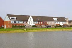 Holenderscy nowożytni domy z rzędu Zdjęcie Stock