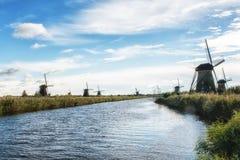 holenderscy tradycyjni wiatraczki Obraz Royalty Free