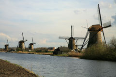 holenderscy wiatraczki Obrazy Royalty Free