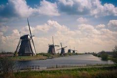 Holenderscy wiatraczki, retro styl Fotografia Stock