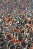 Holenderscy zwolennicy ogląda grę Zdjęcie Royalty Free