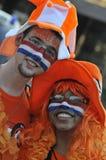 Holenderscy zwolennicy ogląda grę Obraz Royalty Free