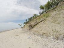 Holenderska kapeluszowa Olando kepure plaża blisko do Karkle, Klaipeda, Lithu zdjęcia royalty free